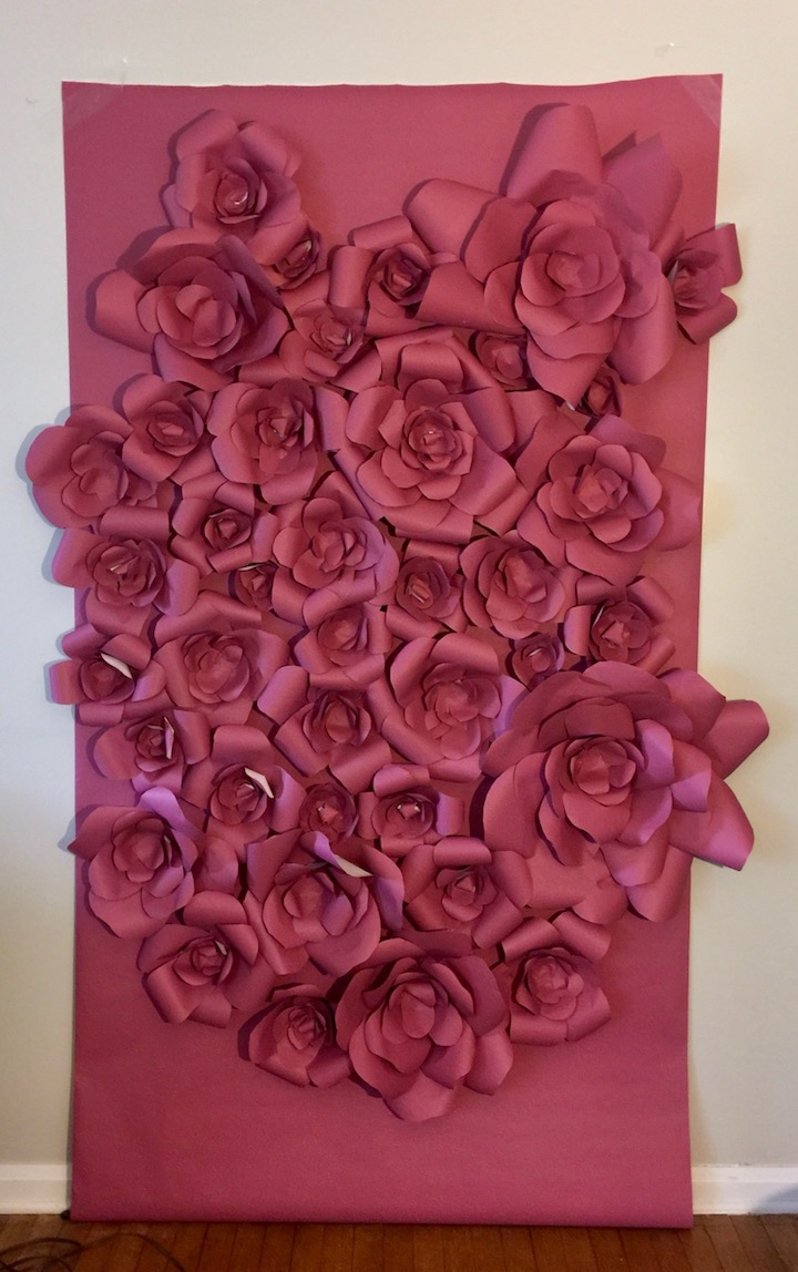 DIY or BUY Paper Flower Backdrop - Relative Renovations